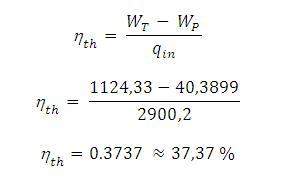 Siklus rankine djukarna dari hasil perhitungan dapat dilihat hanya 3737 dari daya yang diberikan ke dalam boiler yang dapat diubah menjadi energi mekanis sisanya hilang atau ccuart Choice Image